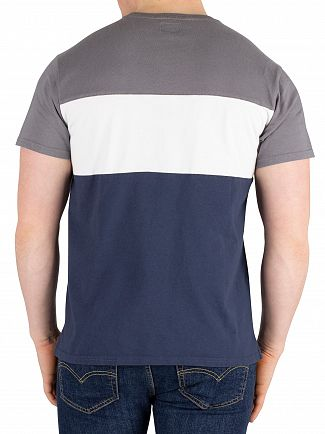 Levi's Grey/Navy Colorblock T-Shirt