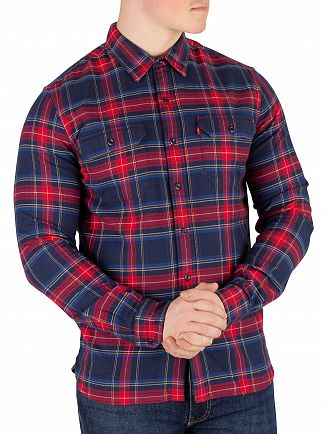 Levi's Dress Blue Jackson Worder Lingroth Shirt