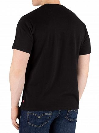 Levi's Black Oversized Graphic T-Shirt