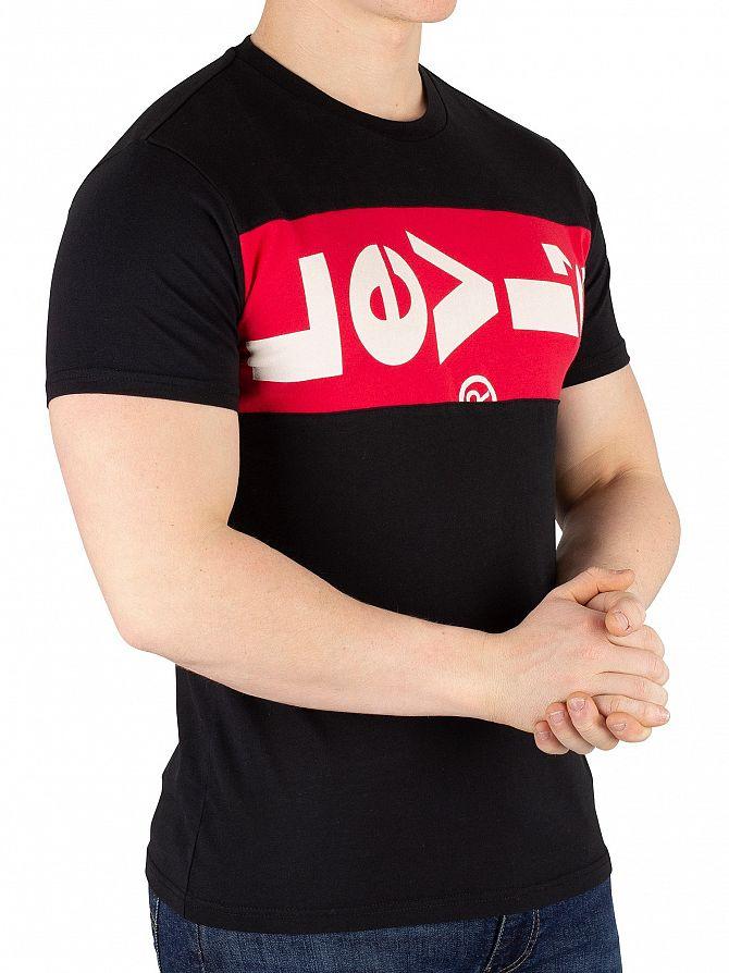 Levi's Black/Lychee Tab Panel T-Shirt