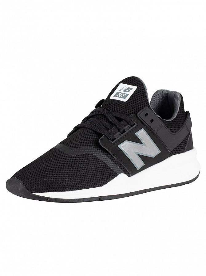 New Balance Black/Silver 247 Trainers