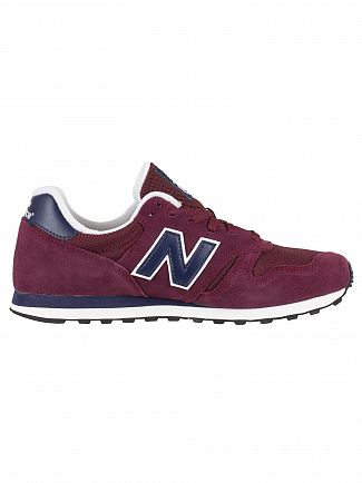 New Balance Burgundy/Navy 373 Suede Trainers