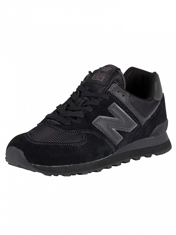 New Balance Blackout 574 Suede Trainers