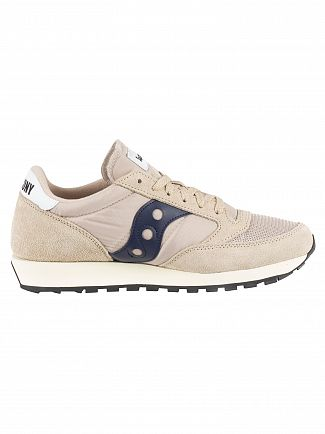 Saucony Tan/Navy Jazz Original Vintage Trainers
