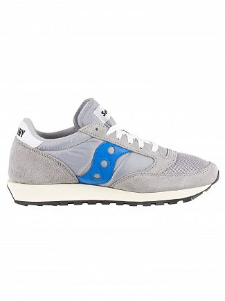 Saucony Grey Blue Jazz Original Vintage Trainers