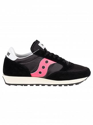 Saucony Black/Pink Jazz Original Vintage Trainers