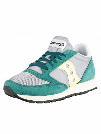 Saucony Green/Grey Jazz Original Vintage Trainers