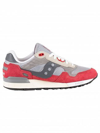 Saucony Grey/Red Shadow 5000 Vintage Trainers