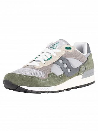 Saucony Grey/Green Shadow 5000 Vintage Trainers