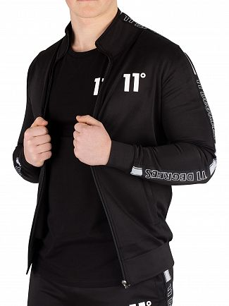 11 Degrees Black Optum Poly Track Top