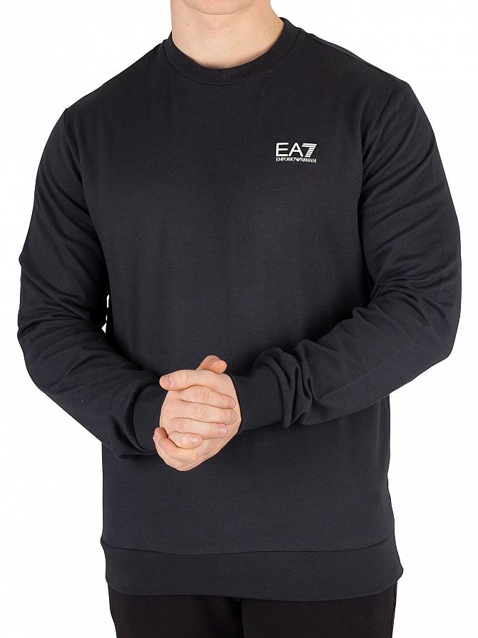 EA7 Night Blue Logo Sweatshirt