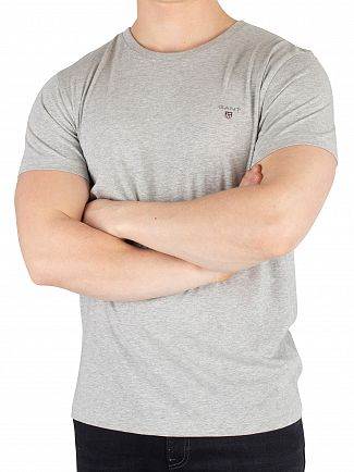 Gant Light Grey Melange The Original T-Shirt
