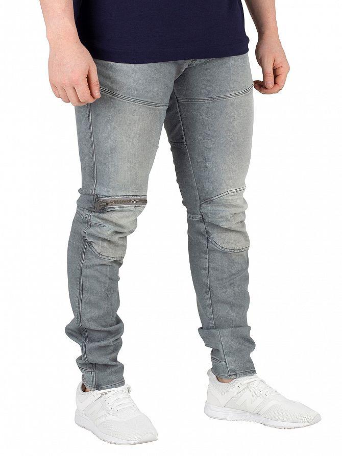 G-Star Medium Aged 5620 3D Zip Knee Skinny Jeans