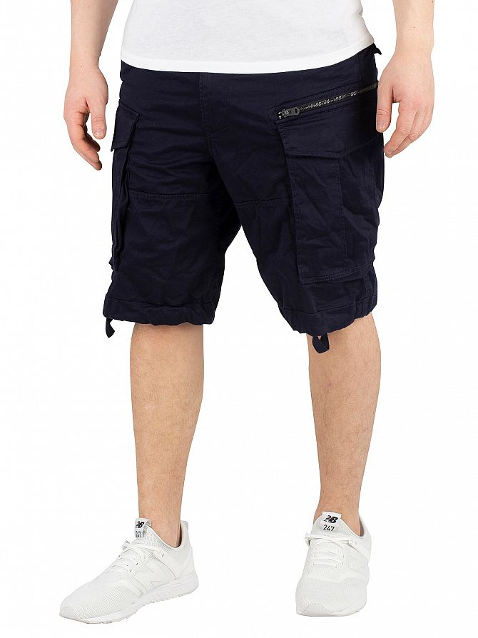 G-Star Mazarine Blue Rovic Zip Relaxed Cargo Shorts