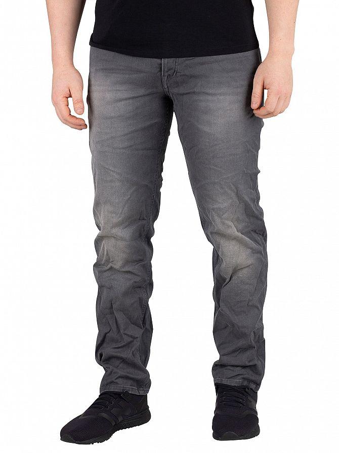 Jack & Jones Grey Denim Tim Slim Fit Indigo Knit Jeans