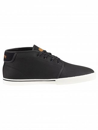 Lacoste Black/Light Brown Ampthill 119 1 CMA Leather Trainers