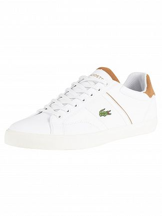 Lacoste White/Light Brown Fairlead 119 1 CMA Leather Trainers