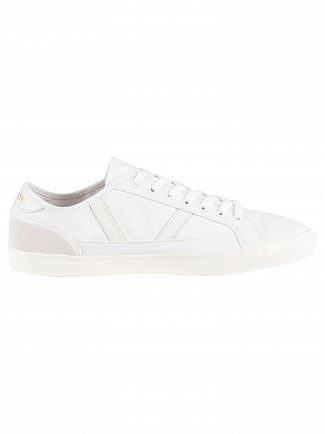 Lacoste White/Off White Sideline 119 1 CMA Canvas Trainers