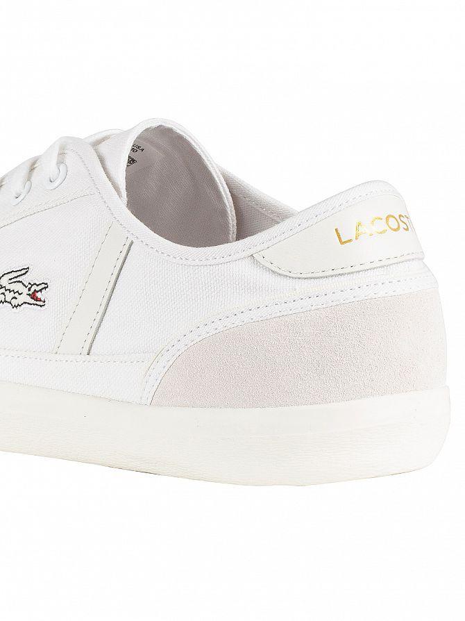7670e3e698 Canvas Lacoste 119 Men's Sideline Trainers eBay 1 White CMA xWrWnXRA
