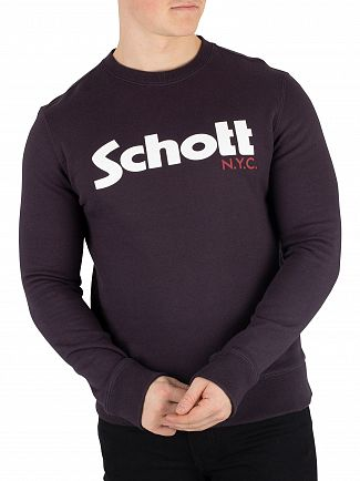 Schott Navy Graphic Sweatshirt