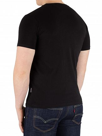 Schott Black Graphic T-Shirt