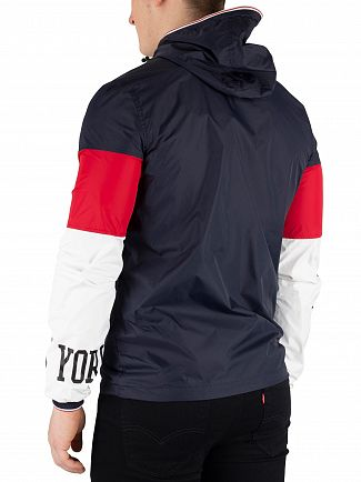 Schott Navy/Red/Off White Logo Windcheater Jacket