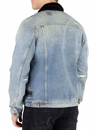Scotch & Soda Altitude Ams Blauw Trucker Jacket