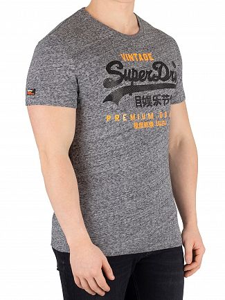 Superdry Flint Grey Grit Premium Goods Duo T-Shirt