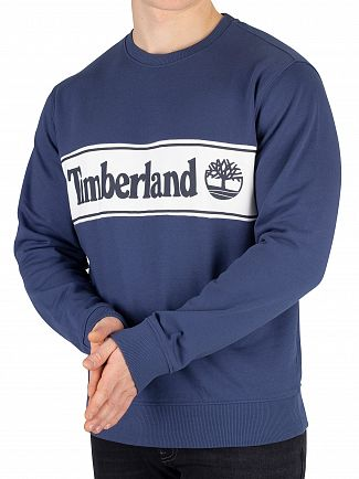 Timberland Dark Denim Cut And Sew Sweatshirt
