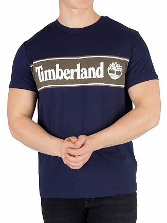 Timberland Navy Cut And Sew T-Shirt