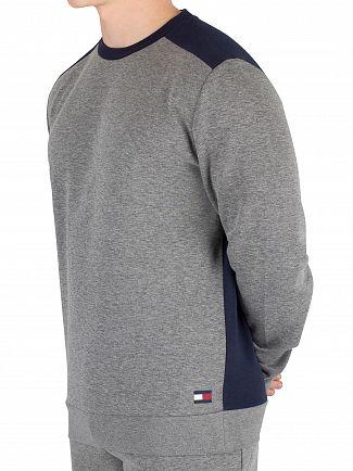 Tommy Hilfiger Grey Heather Logo Sweatshirt