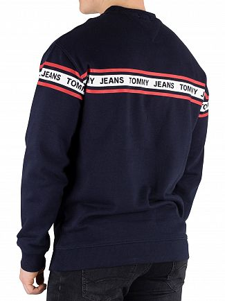 Tommy Jeans Black Iris Navy Tape Sweatshirt