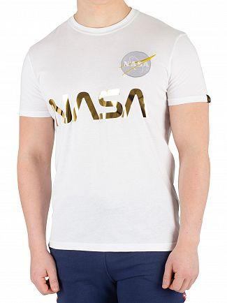 Alpha Industries White NASA Reflective T-Shirt