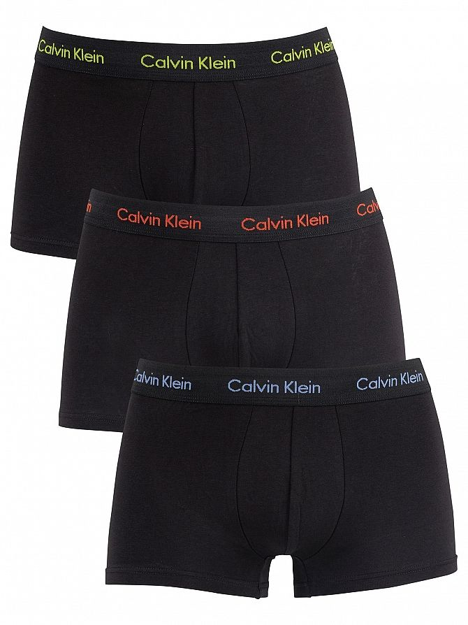 Calvin Klein Periwinkle/Red/Lime 3 Pack Trunks
