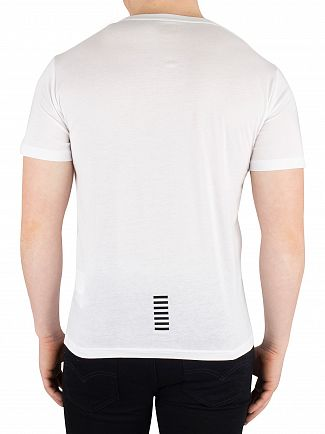 EA7 White Chest Logo T-Shirt