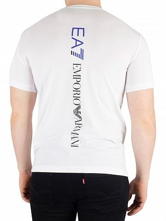 EA7 White Graphic Logo T-Shirt