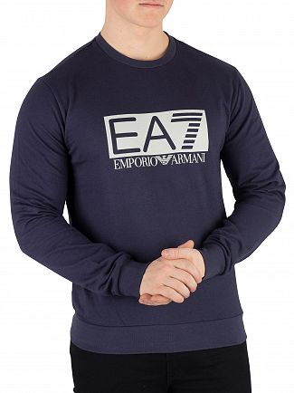 EA7 Navy Blue Graphic Sweatshirt