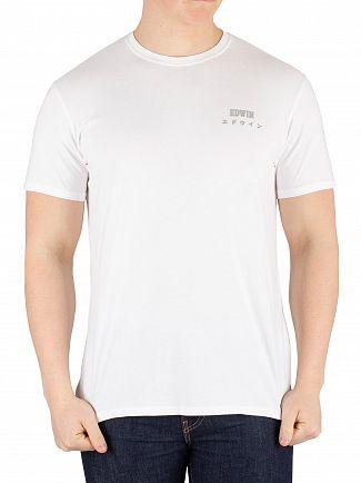 Edwin White Logo Chest T-Shirt