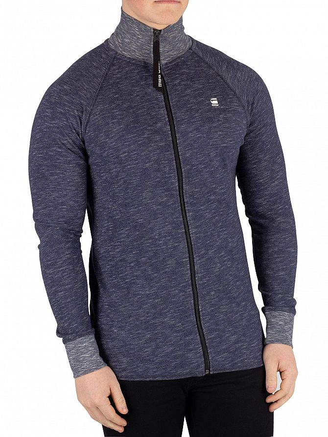 G-Star Sartho Blue Heather Jirgi Zip Track Top