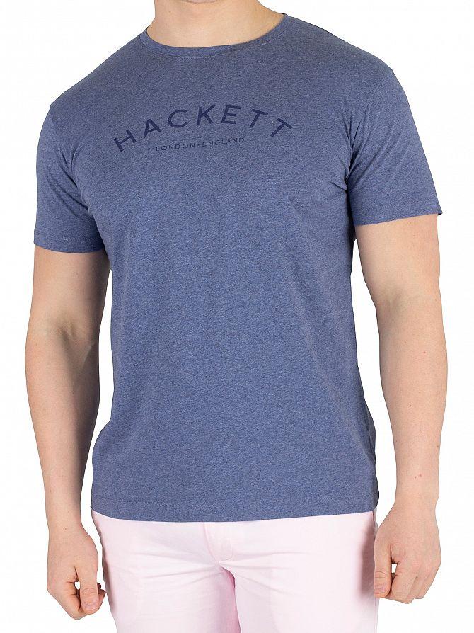 Hackett London Blue Marl Classic Logo T-Shirt