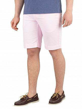 Hackett London Baby Pink Core Kensington Slim Chino Shorts