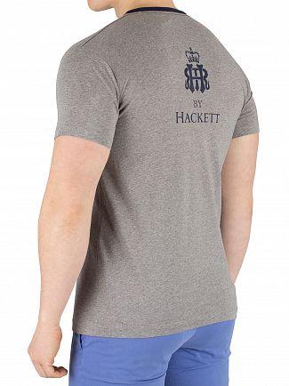 Hackett London Light Grey Marl Print T-Shirt