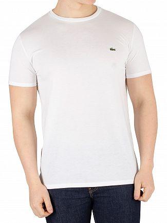 Lacoste White Chest Logo T-Shirt