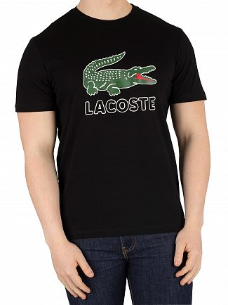 Lacoste Black Graphic T-Shirt