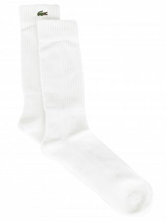 Lacoste White Sport Socks