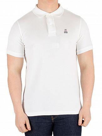 Psycho Bunny White Classic Poloshirt