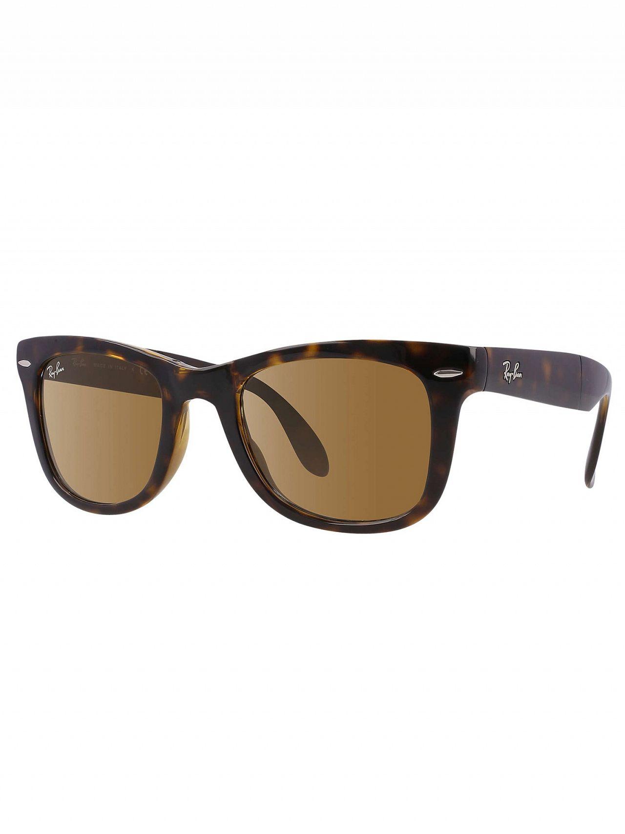 211a0bcb8117 Ray-Ban Tortoise RB4105 Polarized Wayfarer Folding Sunglasses