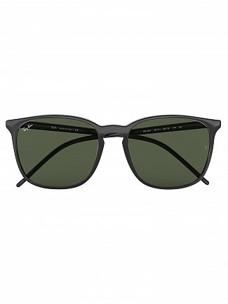 Ray-Ban Black RB4387 Square Sunglasses