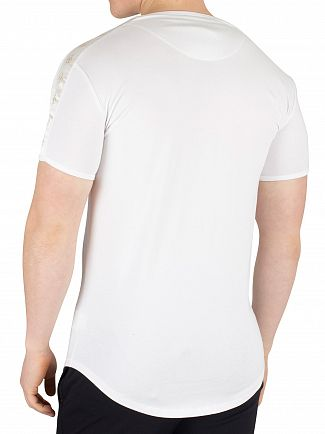 Sik Silk White Lurex Gold Tape T-Shirt
