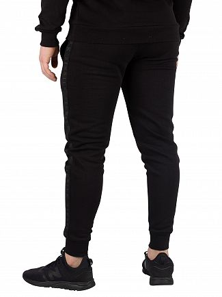 Sik Silk Black Muscle Fit Joggers